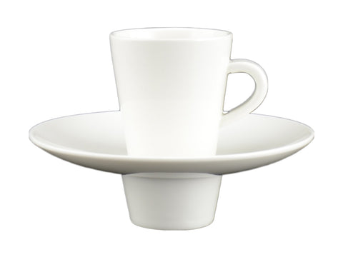 White Tie Espresso Cup with Saucer