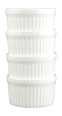 White Tie Ramekin, 5.5oz Set of Four