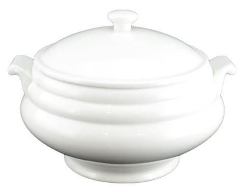 White Tie Soup Tureen with Lid
