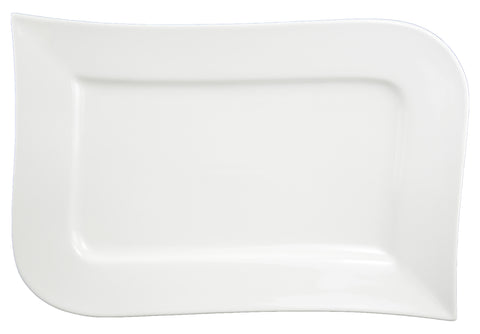 Du Lait Delight Rectangle Plate, 14