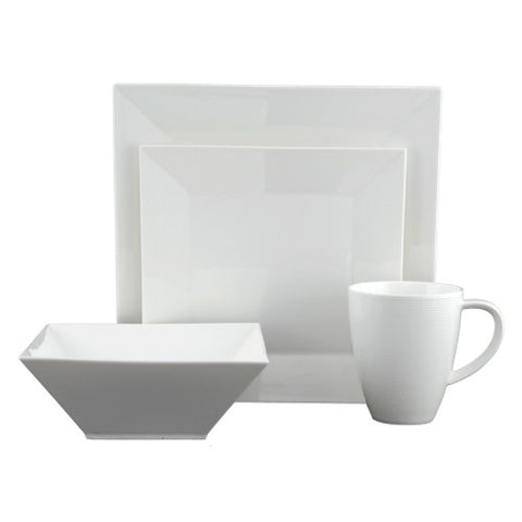 Heston Square Dinnerware Set, 16 Pieces