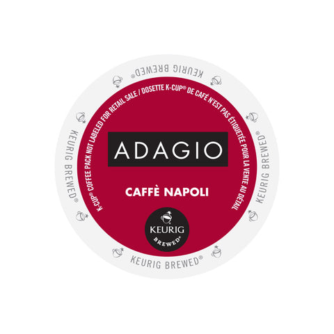 Adagio Caffè Napoli Single Serve K-Cup® Coffee, 96 Pack