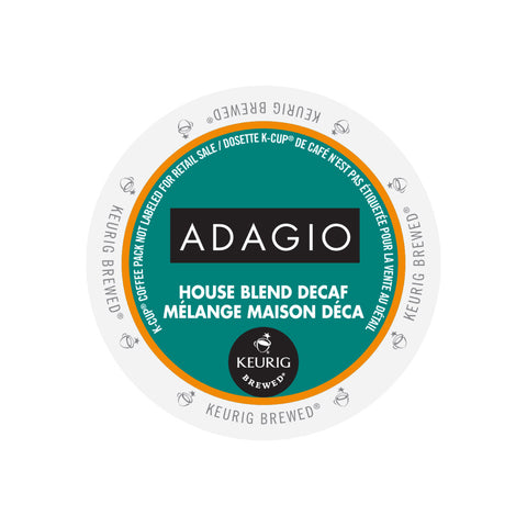 Adagio House Blend Decaf Single Serve K-Cup® Coffee, 96 Pack