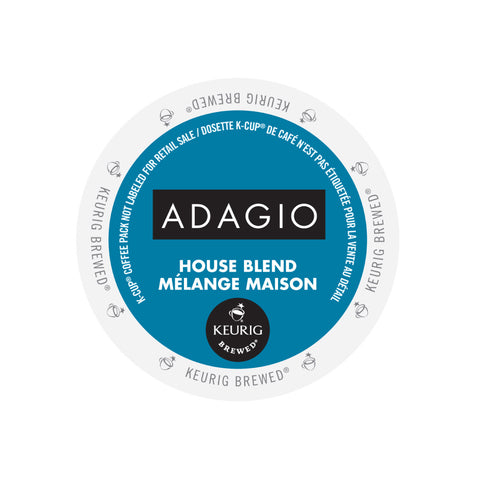 Adagio House Blend Single Serve K-Cup® Coffee, 96 Pack