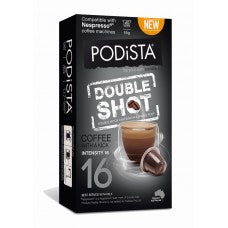 PODiSTA Double Shot Coffee Pod 10 pk, Compatible with Nespresso Machines