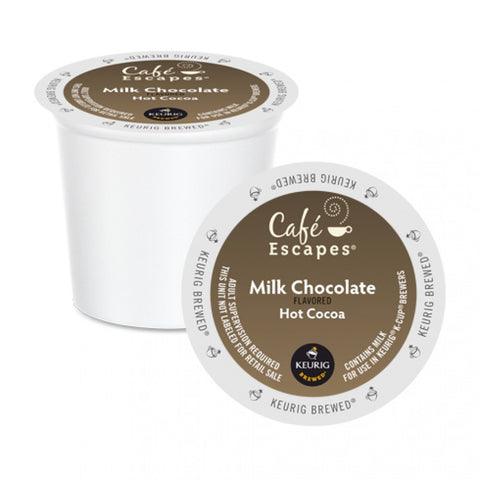 Café Escapes®  Milk Chocolate Hot Cocoa Single Serve K-Cup®, 96 Pack