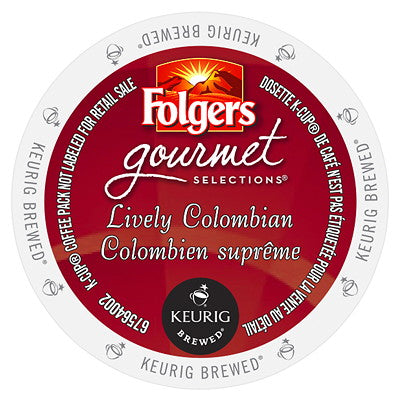 Folgers Gourmet Selections® Lively Colombian Single Serve K-Cup® Coffee, 96 Pack