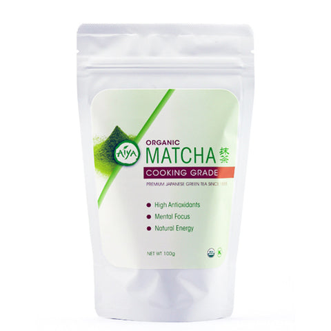 Aiya Organic Cooking Grade Matcha, 100g bag