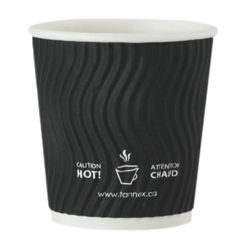 4oz Black Ripple Paper Cup,1000 CT