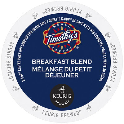 Timothy's® Breakfast Blend Single Serve K-Cup®, 96 Pack