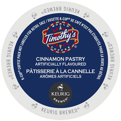 Timothy's® Cinnamon Pastry Single Serve K-Cup®, 96 Pack