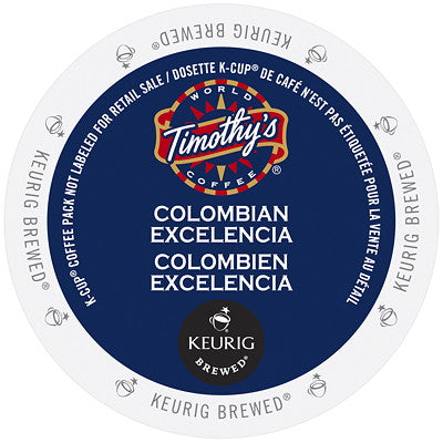 Timothy's® Colombian Excelencia Single Serve K-Cup®, 96 Pack