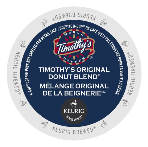 Timothy's® Original Donut Blend Single Serve K-Cup®, 96 Pack