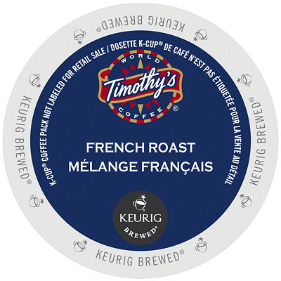 Timothy's® French Roast Single Serve K-Cup®, 96 Pack