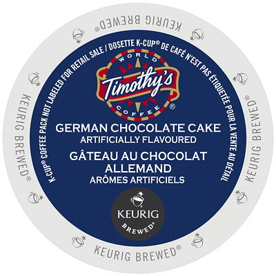 Timothy's® German Chocolate Cake Single Serve K-Cup®, 96 Pack