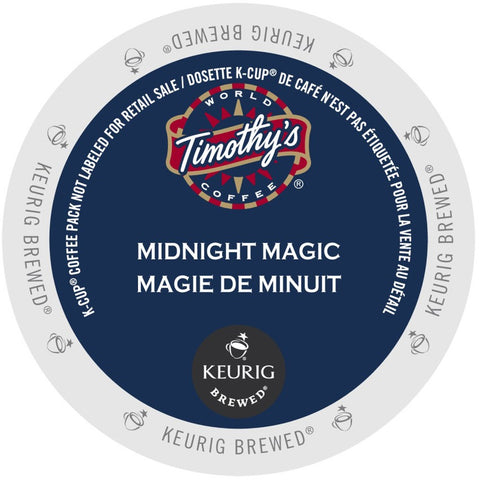 Timothy's® Midnight Magic Extra Bold Single Serve K-Cup®, 96 Pack