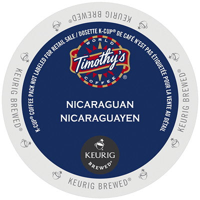 Timothy's® Nicaraguan Fair Trade Organic Extra Bold Single Serve K-Cup®, 96 Pack