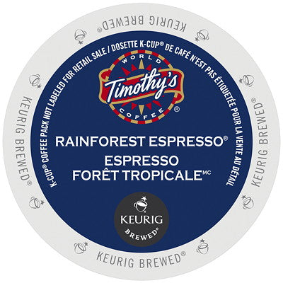 Timothy's® Rainforest Espresso Extra Bold Single Serve K-Cup®, 96 Pack