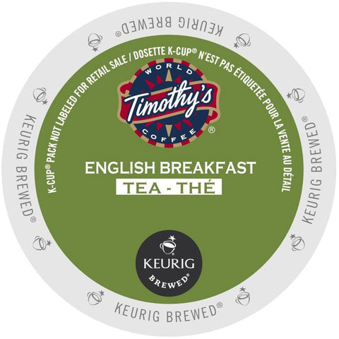 Timothy's® English Breakfast Tea Single Serve K-Cup®, 96 Pack