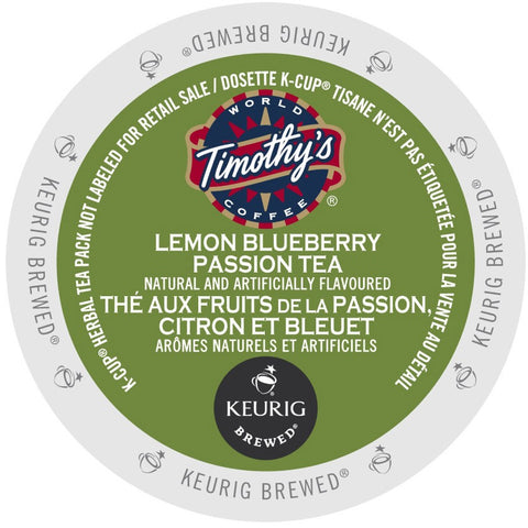 Timothy's® Lemon Blueberry Passion Tea Single Serve K-Cup®, 96 Pack