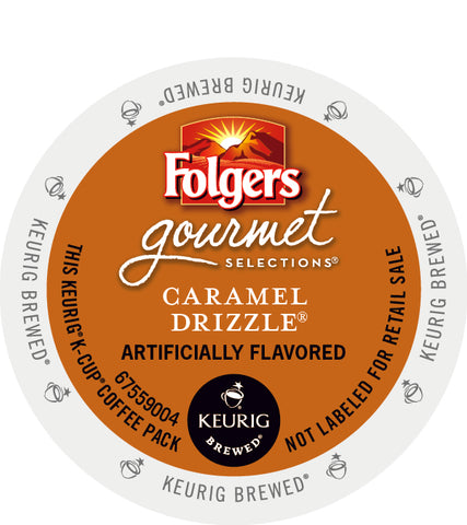 Folgers Gourmet Selections® Caramel Drizzle Single Serve K-Cup® Coffee, 96 Pack