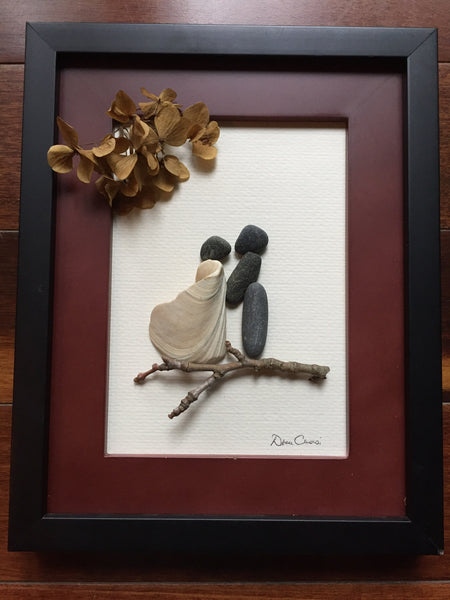 Wedding Pebble Art Picture