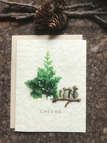 "Pebble Art ""Cheers"" Greeting Card"