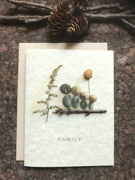 "Pebble Art ""Family"" Greeting Card"