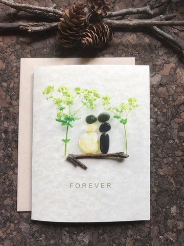"Pebble Art ""Forever"" Greeting Card"