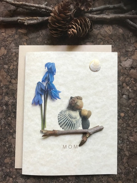 "Pebble Art ""Mom"" Greeting Card"