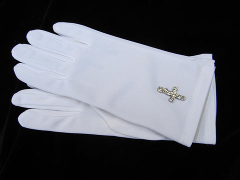 #222GX Children's Gloves w/ Hand Sewn Cross Detail