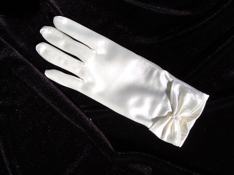#9943 Bridal Glove with Gather and Pearls at Cuff