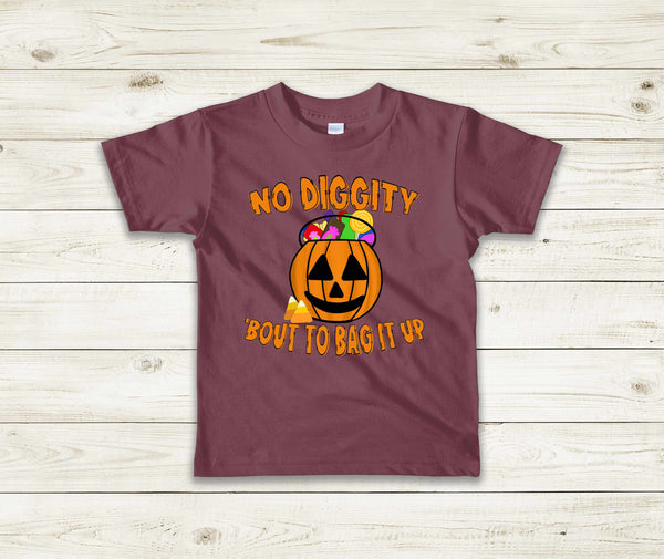 No Diggity Bout to Bag it up YOUTH (SOFT FORMULA) Screen Print TRANSFER ONLY