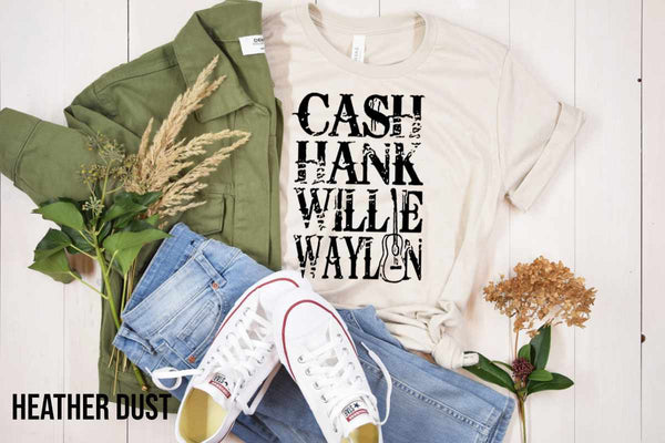 Cash Hank Willie Waylon (BLACK INK)