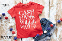 YOUTH-Cash Hank Willie Waylon (WHITE INK)