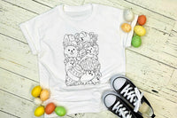 Easter Doodle Kids Coloring Screen Print