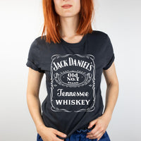 Jack Daniels White Ink Screen Print TRANSFER ONLY - RAJE