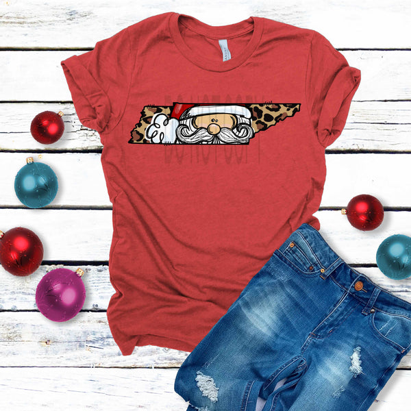 READ DESCRIPTION RTS Tennessee Leopard Santa (SOFT) Screen Print TRANSFER ONLY