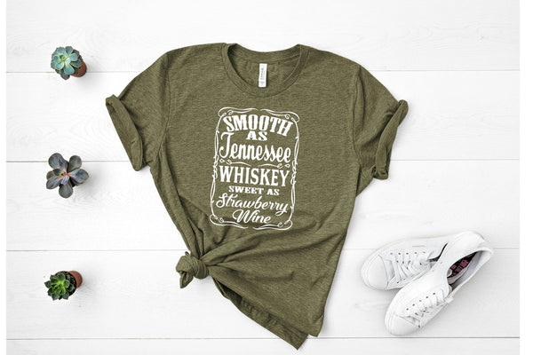 Smooth as Tennessee Whiskey White Ink Screen Print TRANSFER ONLY