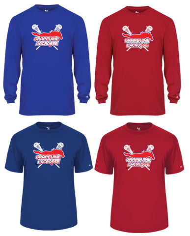 Grapevine Badger Men's Shooting Shirts - Short-Sleeve or Long-Sleeve - Men's, Women's, & Youth