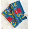 Janavi Pocket full of Roses Petrol Blue cashmere Wrap