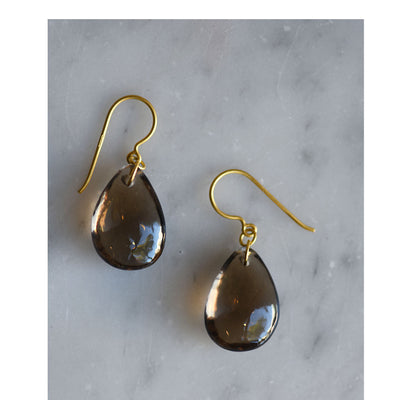 Pippa Small smoky quartz drop earrings