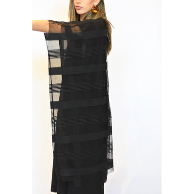 Zucca Tulle Check Dress