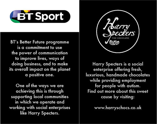 BT Sport and Harry Specters chocolates