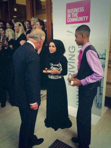 His Royal Highness receiving chocolates made by Harry Specters at Business in the Community Annual Gala Dinner 2014