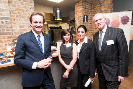 Nick Hurd with Mona Shah and representatives from Lloyd's Banking Group