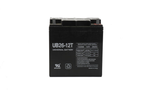Universal Battery UB122260T with T3 Nut and Bolt