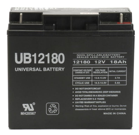 Universal Battery UB12180 with F2 tabs