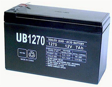 Universal Battery UB1270 with F1 tabs