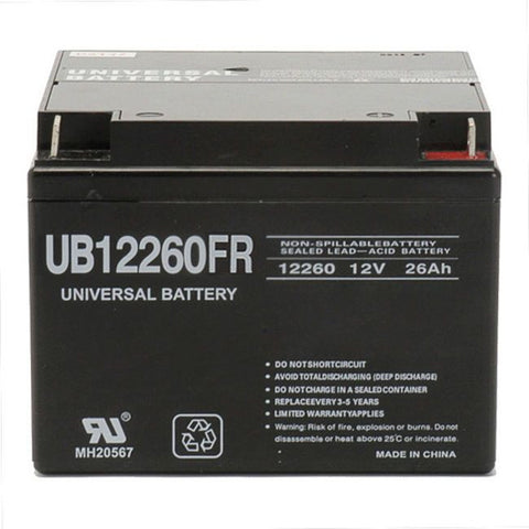 Universal Battery UB12260FR with T3 Nut and Bolt